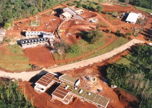 Foto aérea da obra.