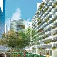 Vista das edificações propostas