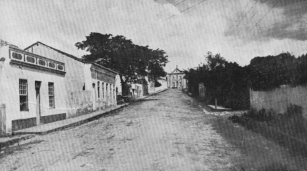 Rio Pardo no Futuro da História - imagem histórica da Rua Senhor dos Passos