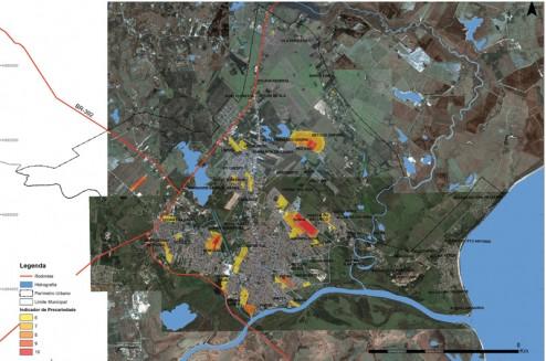 035_PEL Principais focos de demanda habitacional sobre imagem de satélite da área urbana