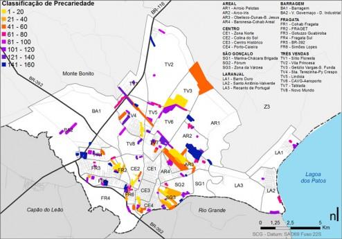 035_PEL Assentamentos Precários da área urbana classificados quanto a gravidade dos problemas habitacionais
