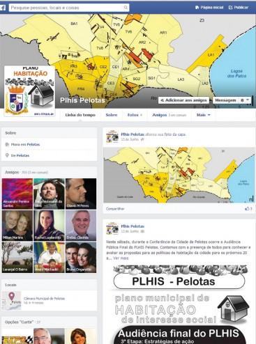 035_PEL Página do Facebook PLHISPelotas: encontros virtuais inovaram na participação popular
