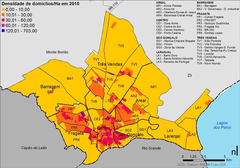 035_PEL Densidade de domicílios em 2010 na zona urbana