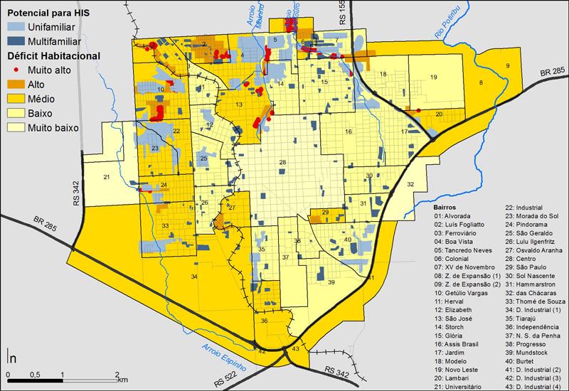 046_IJU Mapa síntese das questões habitacionais: carência habitacional x disponibilidade de terra