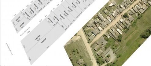 diagrama do cadastro físico baseado em dados geográficos: o SIG e imagem de satélite de alta resolução