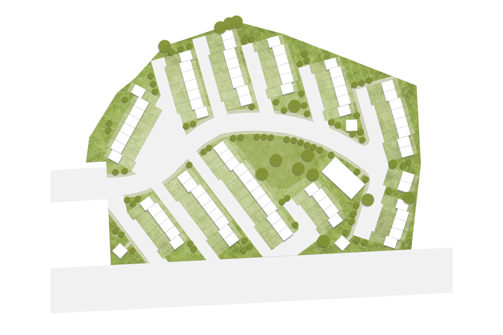 Schematic of the allotment plan for relocation of families