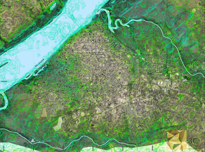 Modelo Digital do Terreno ASTER GDEM-V2, utilizados como complemento de los estudios de campo